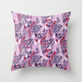 Floral meadow Throw Pillow