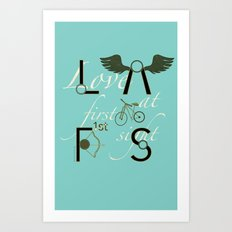 Love at First Sight and Bicycle Art Print