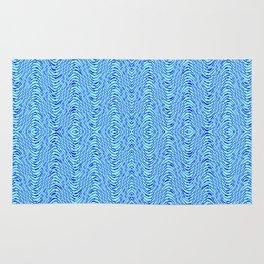 Blue wave pattern Rug