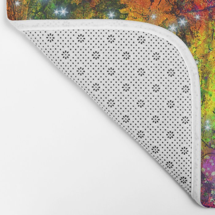 stars in the colorful wall Bath Mat