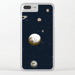 Hedgehog Galaxy Clear iPhone Case