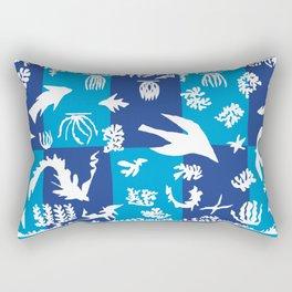 Matisse Cut Out Collage - Seascape Rectangular Pillow