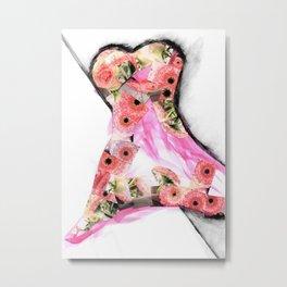Blütenkleid Metal Print
