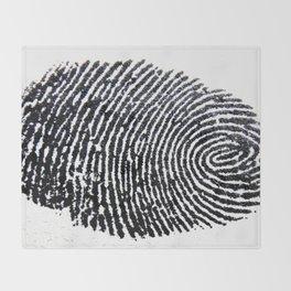 The Finger Print Throw Blanket