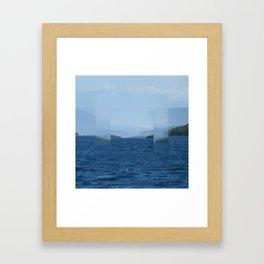 Clear focus Near Meganissi Framed Art Print