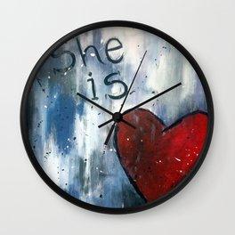 She is Love Wall Clock