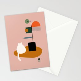 Plants with Little Meatball Stationery Cards