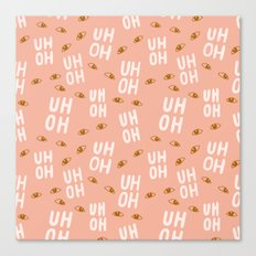 Uh-Oh Pattern Canvas Print