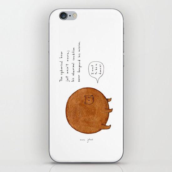 the spherical bear iPhone & iPod Skin
