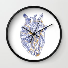 Kintsugi broken heart Wall Clock