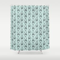 raccoon Shower Curtains featuring Raccoon by Nathalie Otter