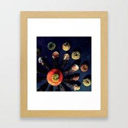 Mushroom Mandalas Framed Art Print