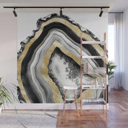 Agate Gold Foil Glam #1 #gem #decor #art #society6 Wall Mural