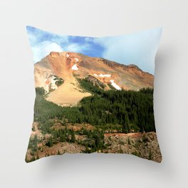 The Famous Gold Mines of Red Mountain Throw Pillow
