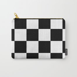 Large Checkered - White and Black Carry-All Pouch