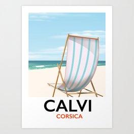 Calvi Corsica Travel poster Art Print