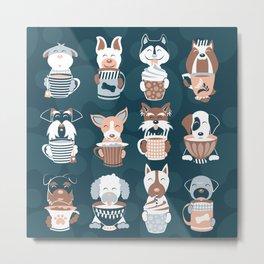 Doggie Coffee and Tea Time II Metal Print