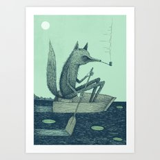 'Across The Lake' (Colour) Art Print
