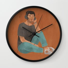 listening to music Wall Clock