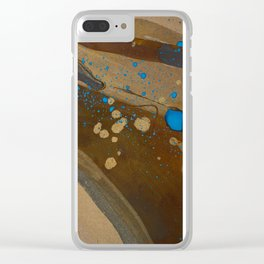 joelarmstrong_rust&gold_072 Clear iPhone Case