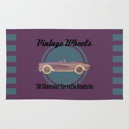 Vintage Wheels - '58 Chevrolet Rug