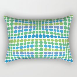 Dottywave - Green Blue wave dots pattern Rectangular Pillow