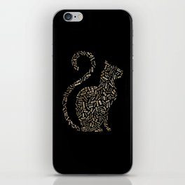 Meow Cat Word Cloud Typography iPhone Skin