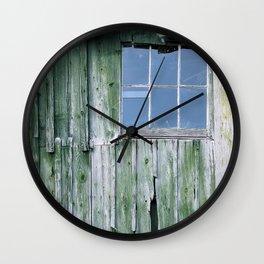 CLOSED GLASS WINDOW Wall Clock