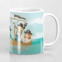 pirates Mugs featuring Pirates! by Joy Paton