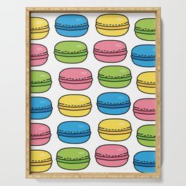 Colorful Macaroons Serving Tray
