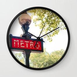 Parisian Metro Sign Wall Clock