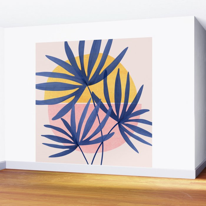 Both Sides of The Story / Tropical Palm Art Wall Mural