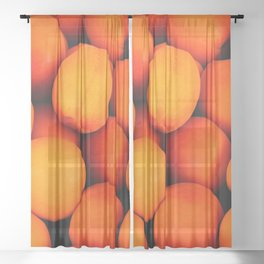 Apricots Sheer Curtain