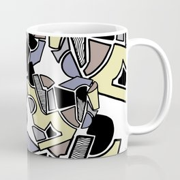 illustration with several geometric shapes in pastel colours Coffee Mug
