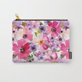 FLOWERS WATERCOLOR 6 Carry-All Pouch