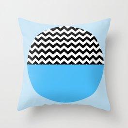 Moiety Blue Throw Pillow