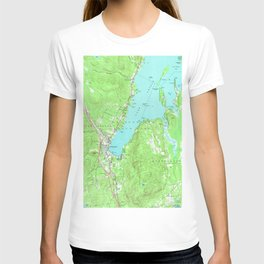 Vintage Map of Lake George New York (1966) T-shirt