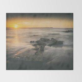 Cabedelo beach in the city of Viana do Castelo, Portugal Throw Blanket