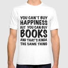 Book Buying Quote Mens Fitted Tee MEDIUM White
