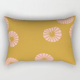 Dandelion flying mustard Rectangular Pillow