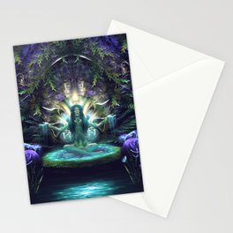 Convalescence - Visionary - Fractal - Manafold Art Stationery Cards