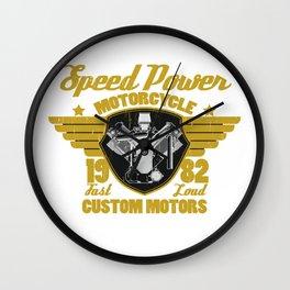 Vintage Motorcycle Engine Motorcycle Racing Biker Gift  Wall Clock