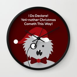 Yeti-nother Christmas Wall Clock