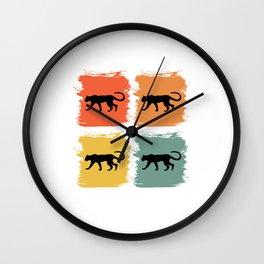 Cheetah Leopard Retro Pop Art Gift Idea Wall Clock
