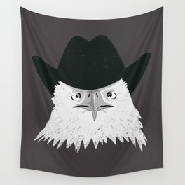 Eagle Cowboy Hipster Wall Tapestry