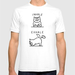 Inhale Exhale Cat T-shirt