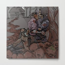 EROS AND THANATOS Metal Print