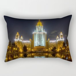 Moscow State University By Night Rectangular Pillow