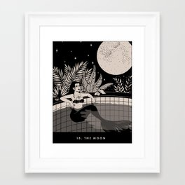 18. THE MOON Framed Art Print