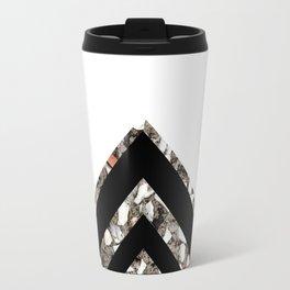 Geometric Black Diamond Travel Mug